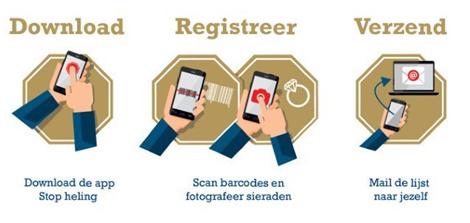 Maak het inbrekers niet makkelijk: stop heling! Gebruik de speciale app