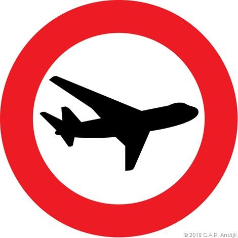 verboden voor vliegtuigen