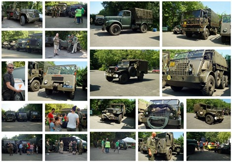 Klassieke legervoertuigen op Opkikkerdag in Zeewolde