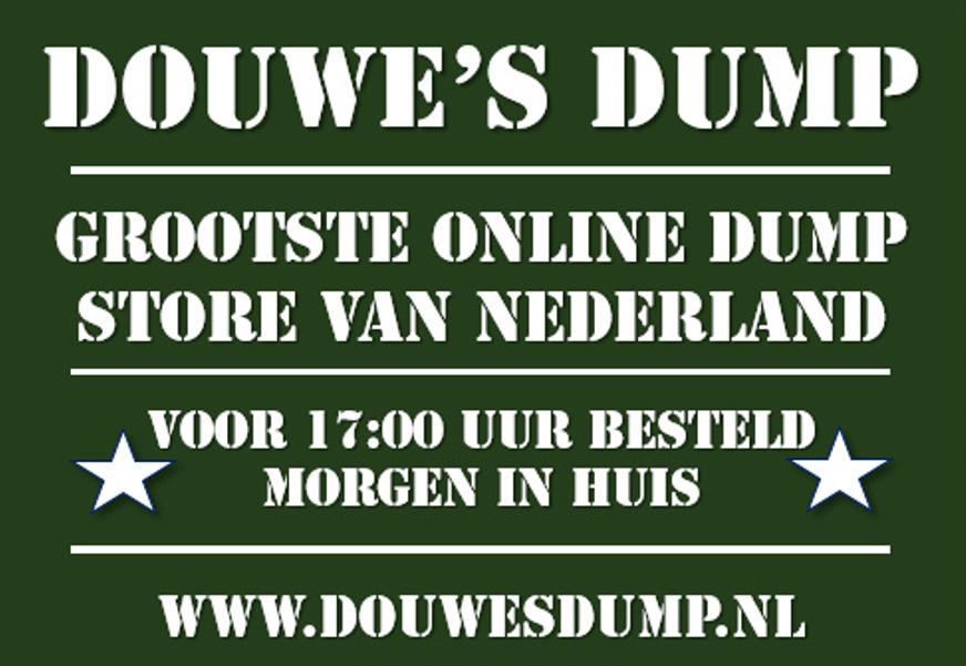 Originele Sinterklaas- en Kerstcadeaus bij Douwe's Dump, de grootste online Dump Store van Nederland