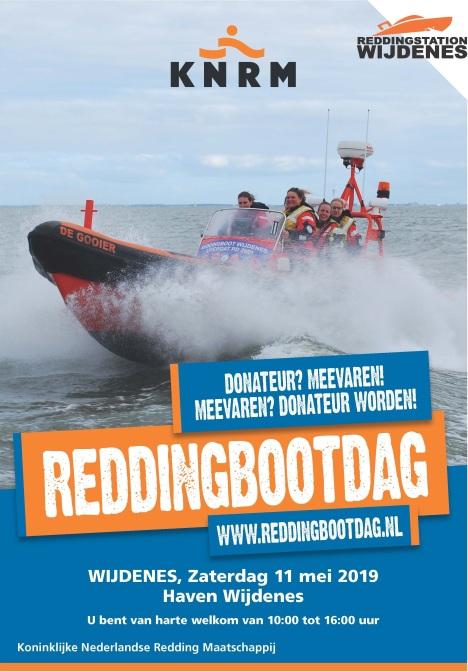 Zaterdag 11 mei organiseert Reddingstation Wijdenes van 10:00 tot 16:00 uur Reddingbootdag in de vluchthaven van Wijdenes. Reddingbootdag is dé dag voor donateurs om actief kennis te maken met het werk, de professionele vrijwilligers en het materieel van Reddingstation Wijdenes.
