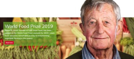 Enkhuizer Simon N. Groot - zaadveredelaar wint 2019 World Food Prize #FoodPrize19  | Mike Pompeo | Simon N. Groot | East-West Seed Enkhuizen | Kenneth Quinn | Henne Schuwer, ambassadeur in de VS