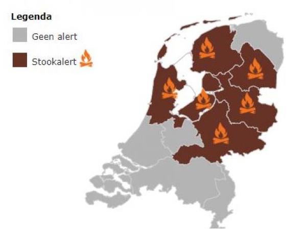 RIVM Stookalert: stook geen hout in o.a. Noord-Holland