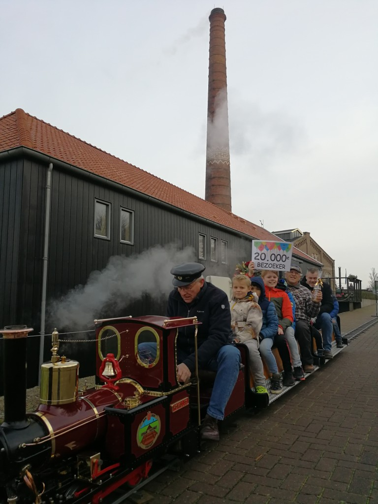 Stoommachinemuseum ontvangt 20.000e bezoeker