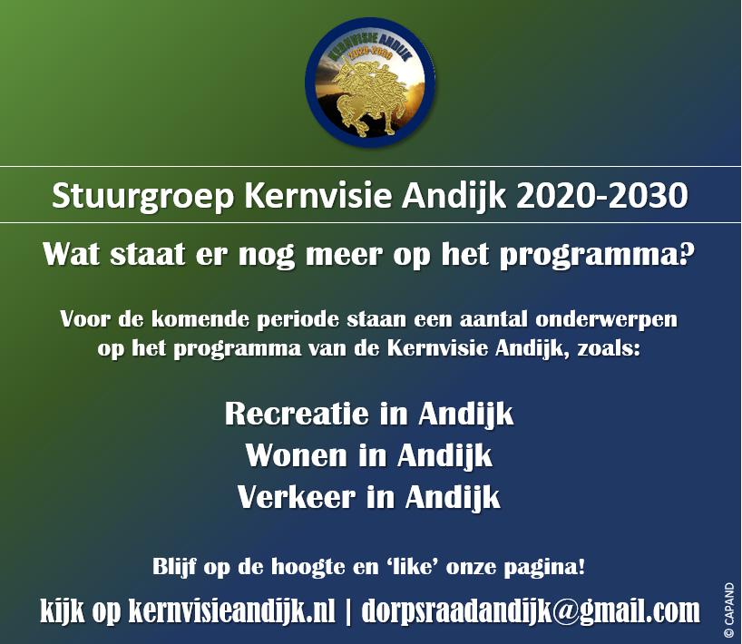 Wat staat er nog meer op het programma van de Kernvisie Andijk 2020-2030?