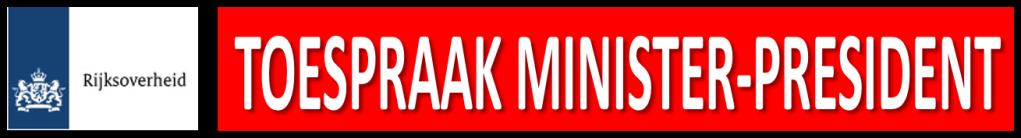 Terugkijken Toespraak minister-president Mark Rutte Corona