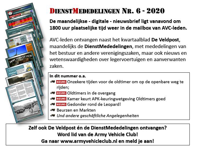 DienstMededelingen Nr. 6 - Army Vehicle Club