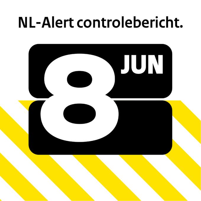 Maandag ontvang jij een #NLAlert controlebericht op je mobiel