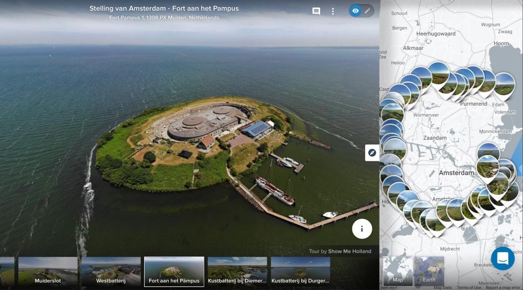 Primeur: Stelling van Amsterdam nu volledig in 360º vanuit de lucht te bekijken