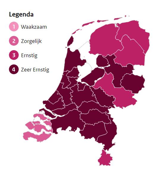#Corona: Noord-Holland Noord opgeschaald naar 'zeer ernstig'