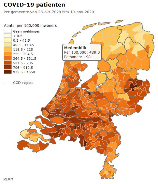 #Corona West-Friesland: flinke daling aantal besmette personen - maar meer ziekenhuisopnames