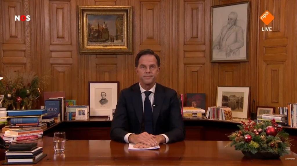 Minister president Mark Rutte: Lockdown nodig om snel oplopend aantal besmettingen tegen te gaan  #Corona
