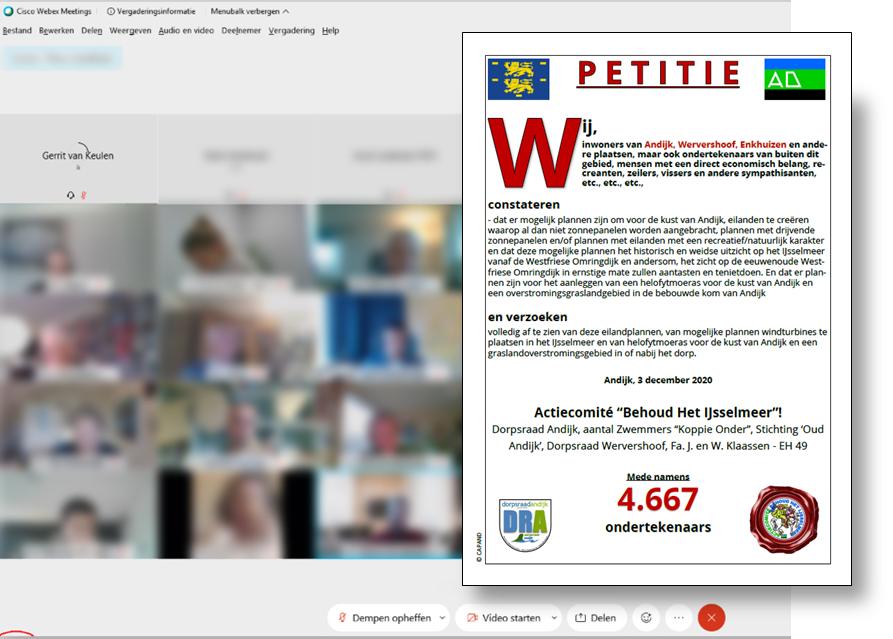 """Petitie """"Behoud Het IJsselmeer!"""" overhandigd aan Rijkswaterstaat"""