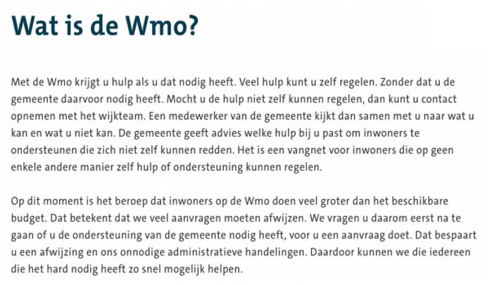 Ook PW2010 stelt raadsvragen aan college over 'afwijzing' Wmo