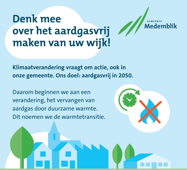 Klimaatverandering vraagt om actie, ook in de gemeente Medemblik - Doel: aardgasvrij in 2050 (Andijk Centrum)